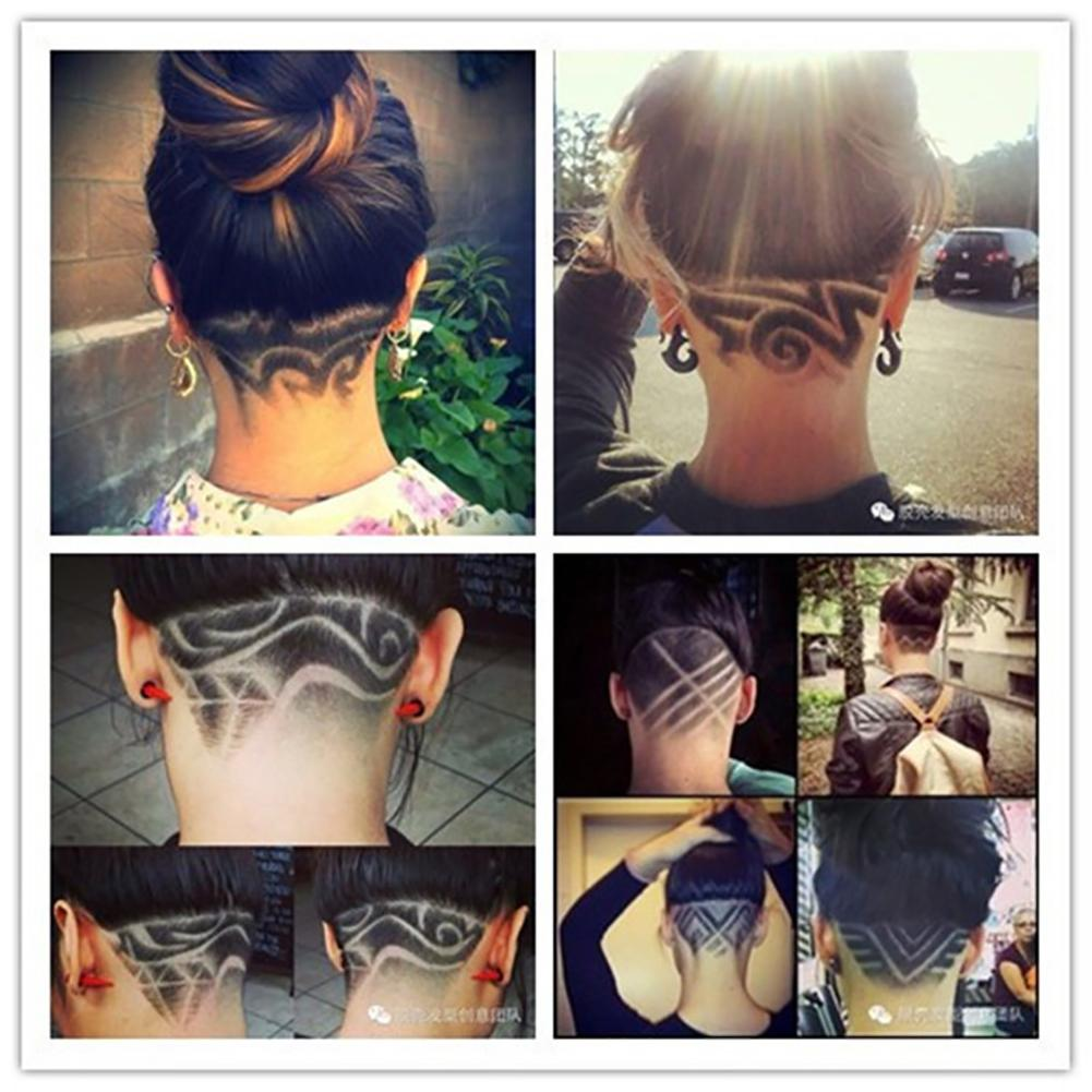hair styling tattoo template