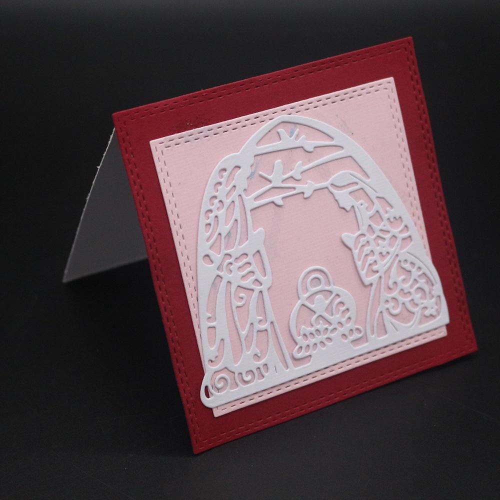 AZSG Caveolae Cutting Dies For DIY Scrapbooking Card Making Decorative Metal Die Cutter Decoration