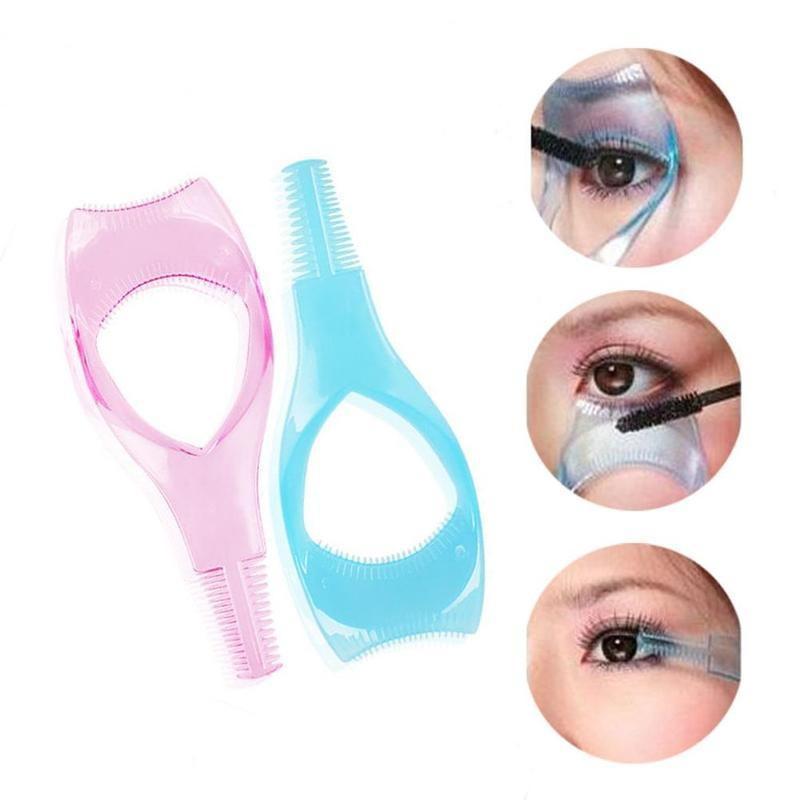 New Arrival Eyelash Comb 5 In 1 Pink Mascara Applicator Template Eyeliner Models Guide Card Shaping Kit Makeup