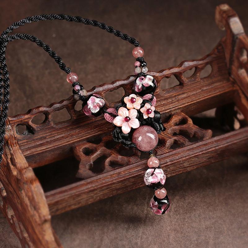 Choker Necklace Women Collier Femme Vintage Jewelry Natural Stones Necklaces & Pendants Bijoux 2018-in Pendant Necklaces from Jewelry & Accessories    2