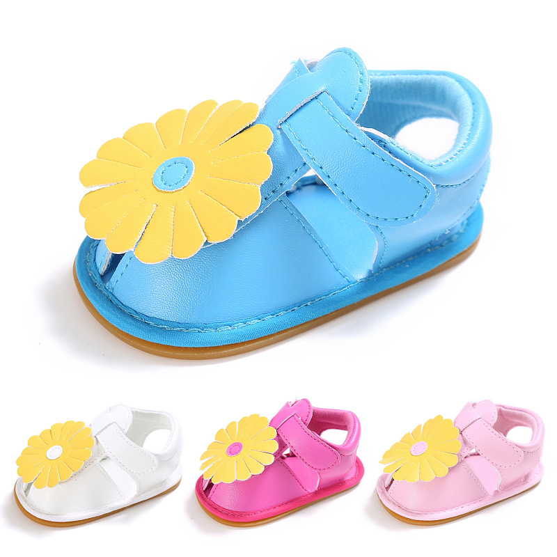 Cool Summer Baby Girls Shoes Sunflowers Crib Shoes Anti-Slip Baby Moccasins Toddler Shoes Newborn First Walkers Shoes