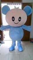 Горячая Распродажа 2017 Синий большая голова куклы талисманы Детские костюмы и платья