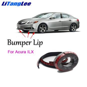 Litanglee para Acura ILX parachoques delantero labio parachoques de goma de coche de fibra de carbono Spoiler falda lateral de protección impermeable