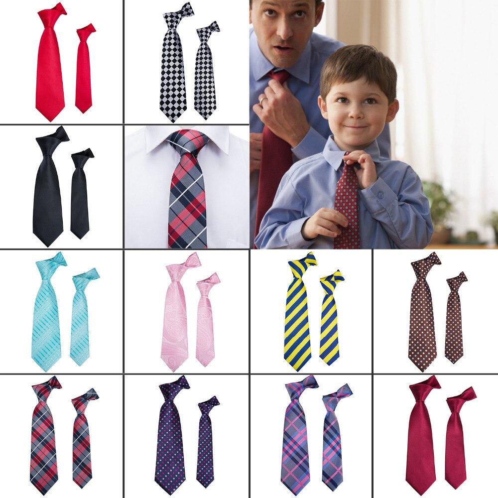 New Men Tie 11 Colors Children Necktie 100% Silk Barry.Wang Jacquard Woven Boy Tie Pink Paisley Ties For Men Wedding Party Fc-11