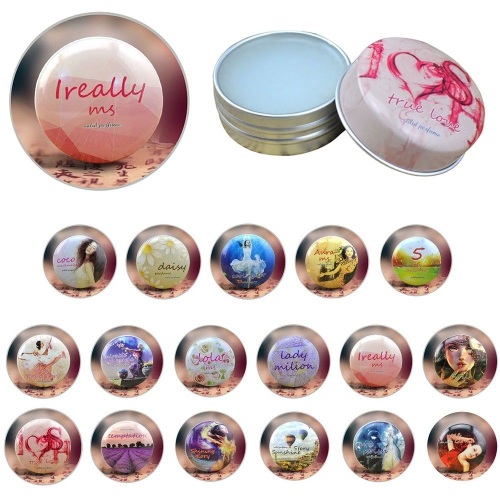 1PC 15g Solid Perfume For Men Women Portable Round Box Solid Perfume Long-lasting Balm Body Fragrance Skin Care Essential Oil