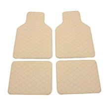 Universal Leather Car Floor Mats Quilted Design Waterproof Liners Carpets Set car accessories styling carpet