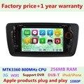 Preço de fábrica Do Carro DVD Player para Seat Ibiza 2009 2010 2011 2012 2013 2014 Sistema de Navegação GPS 3G USB Bluetooth Rádio Estéreo