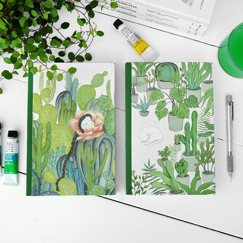 MOREUSEE Plantation Series Sketch Blank Page Original Notebook Hardcover Notepad 1PCS