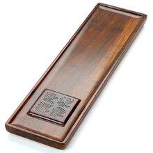 Tejido filamento De Bambú Bandeja de Té Kung Fu Té De Bambú Chino bandeja de Cartón Cajón Viajes Té Gongfu Herramientas del Conjunto de Servicios de Mesa 36*10*2 cm