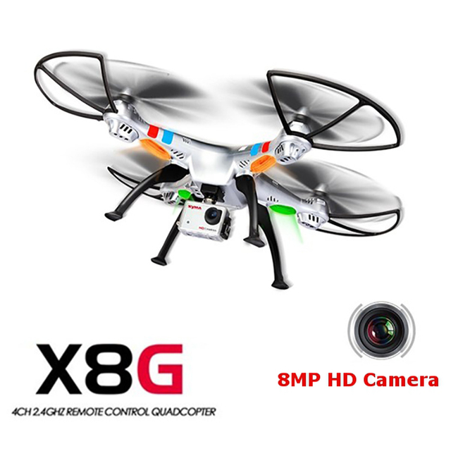 (In voorraad) 100% Originele Syma X8G 2.4G 4ch 6 Axis Venture met 8MP Camera RC Quadcopter RTF RC Helicopter Kerstcadeau