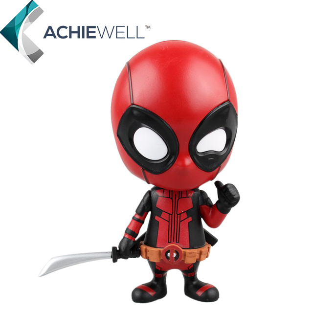 New Anime Deadpool Bobble-Head Shake Head Doll PVC 10cm Action Figure Fan Collectible X  sc 1 st  AliExpress.com & New Anime Deadpool Bobble Head Shake Head Doll PVC 10cm Action ...