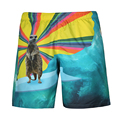 Men Quick Dry Beach Shorts Homme Masculino  Summer Sear Wave Animal Male Boardshorts Man