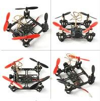 Mini Tiny QX80 80mm Carbon FPV Brushed Indoor RC Quadcopter DIY RTF Assemble Kit H107 Flight