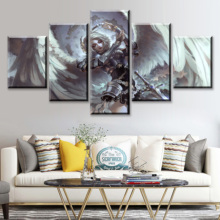 HD Print 5 Piece Canvas Art Fantasy Angel Warrior Poster Paintings Modern Wall For Home Pictures Decorations Decor Framework