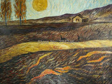 Field with Ploughman by Vincent Van Gogh Handpainted