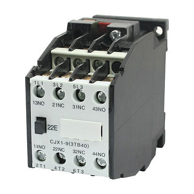 35mm DIN Rail Mounted 3 Pole 2NO 2NC 380V 50HZ Coil AC Contactor CJX1-935mm DIN Rail Mounted 3 Pole 2NO 2NC 380V 50HZ Coil AC Contactor CJX1-9