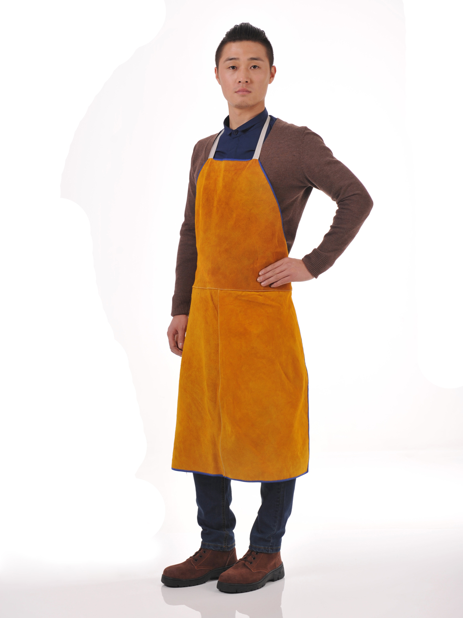 Cowhide Leather Welded Apron Thickened And Big Size Welder Protective Apron Cowhide Protective Safety Apron
