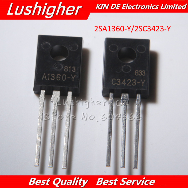 10pcs 2SA1360 TO-126 2SC3423 TO126 New Original (5pcs A1360 + 5PCS C3423 )