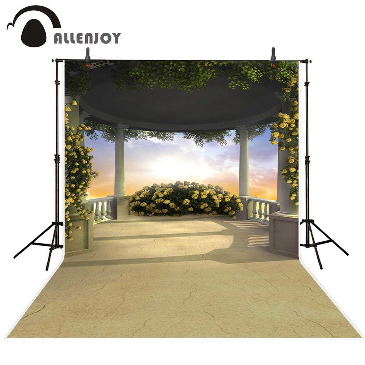 Allenjoy photography backdrops Garden wedding background beautiful sky flowers Background for a photo photo backdrop vinyl allenjoy photography backdrops valentine s day love colourful heart wedding background for studio photo backdrop vinyl