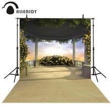 Allenjoy photographie décors Jardin de mariage fond beau ciel fleurs Fond pour une photo photo toile de fond de vinyle
