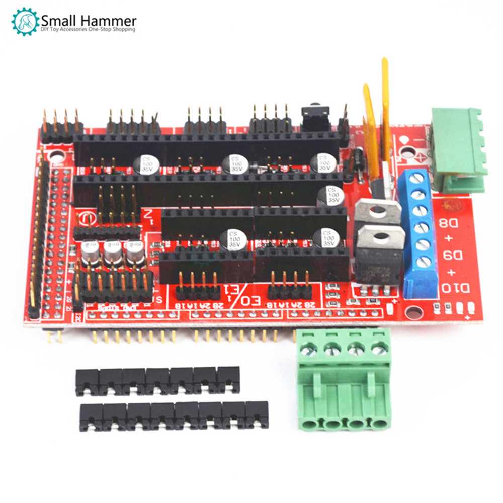 3D Printer Controller Module Accessories Reprap Ramps 1.4 Control Panel Drive Component Expansion Board