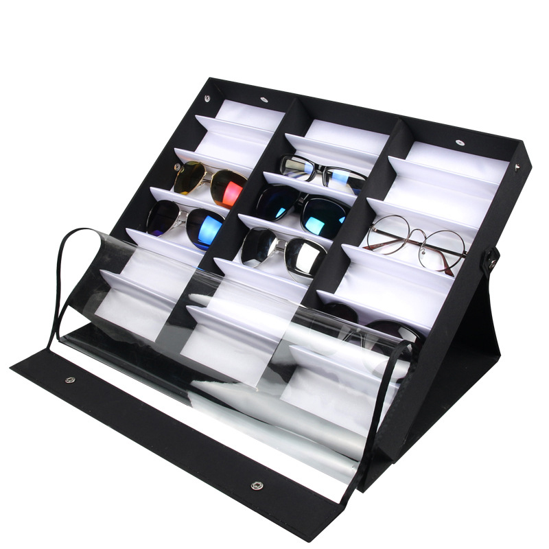 f20e1b3821ff3 18 Grid Sunglasses Box Storage Box Organizer Glasses Display Case Stand  Holder Eye Wear Storage Eyeglasses