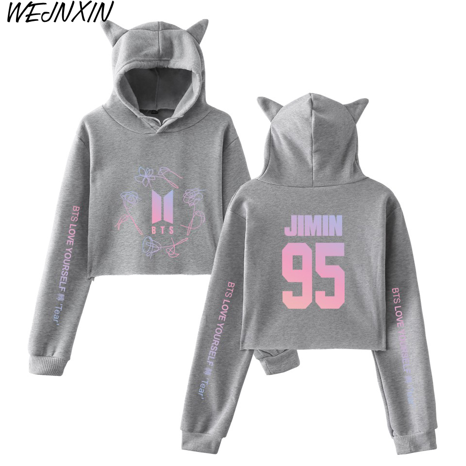 Men's Clothing Bts Bangtan Boys Hooded Hoodie The New Character Hooded Sweatshirt Women Strapless Shoulder Fake Two Pieces Top Kpop Bts Hoodies Without Return