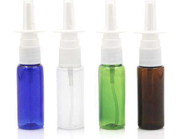 Комплект из 2 предметов, 5/10/15/20/30 мл пустые бутылки Пластик флаконы для Назального спрея спрейер насоса тумана нос Заправляемый спрей бутылк...