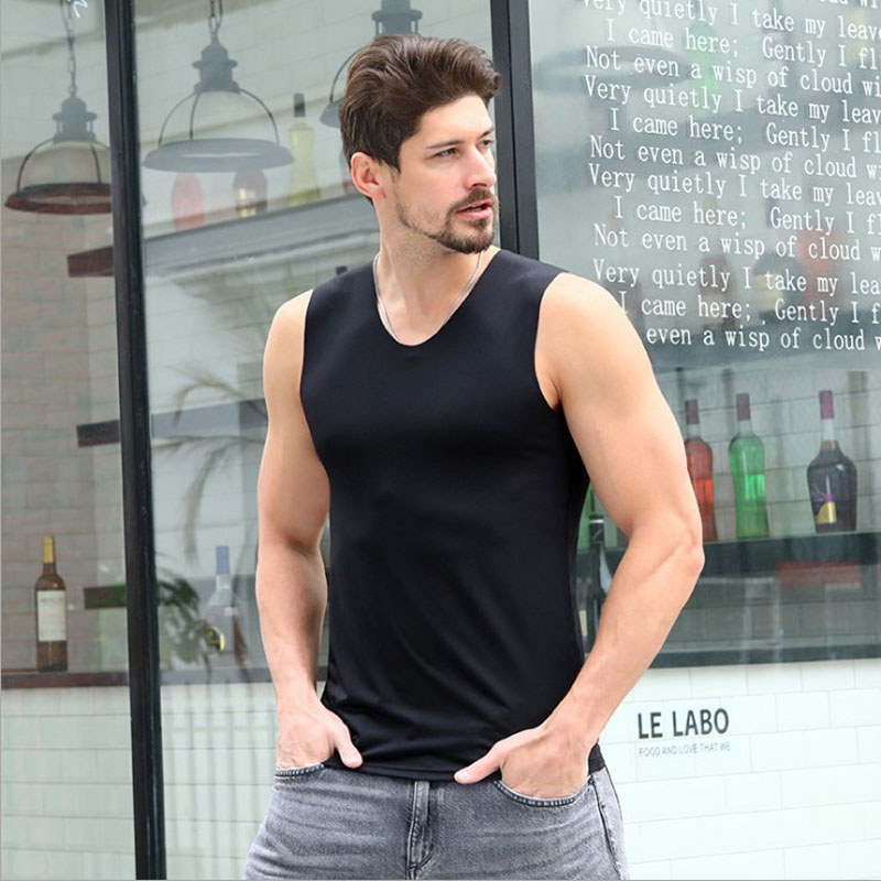 Men's V neck Sleeveless Bodybuilding Rayon   Tank     Tops   Slim Fits Tee   Tops   Male V   Tank     Top   Vest Men's Undergarment Clothing 5 Color