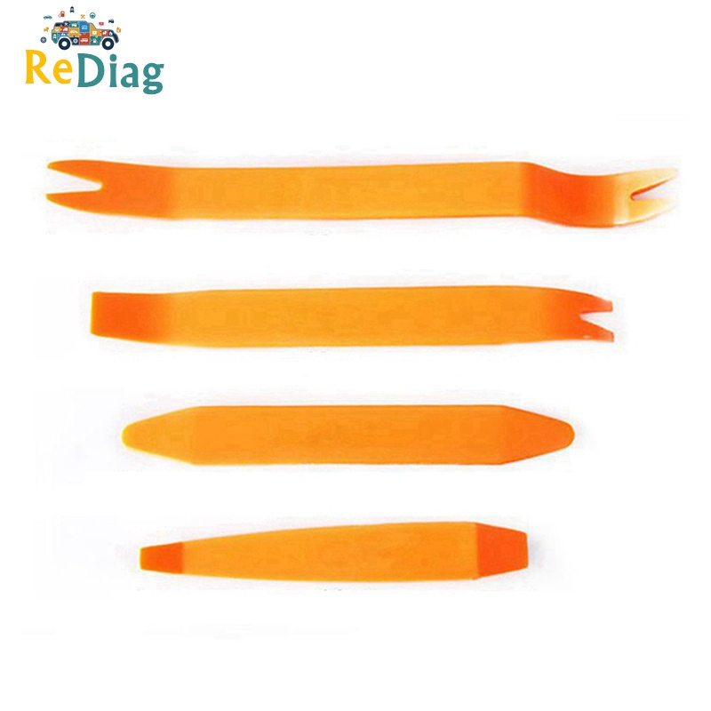 4PCS Car Audio Disassembly Tool Auto Car Removal Repairing Pry Tools Kit Panel Plastic Trim Removal Tool Set High Hardness