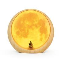 Hidden moon scene atmosphere lamp light usb charging bedside table lamp lunar lamp moon Desk Lamps