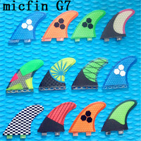2017 hotsales FCS G7 surf fins with fiberglass honeycomb for surfing size L 3pcs/set MICFIN