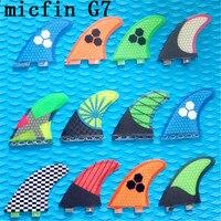 2017 hotsales FCS G7 surf fins with fiberglass honeycomb for surfing size L 3pcs/set MICFIN