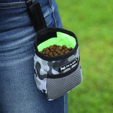 Поясная Сумка для дрессировки домашних животных без рук, сумка для корма для собак на шнурке, сумка для собак с узором, водонепроницаемая тканевая сумка