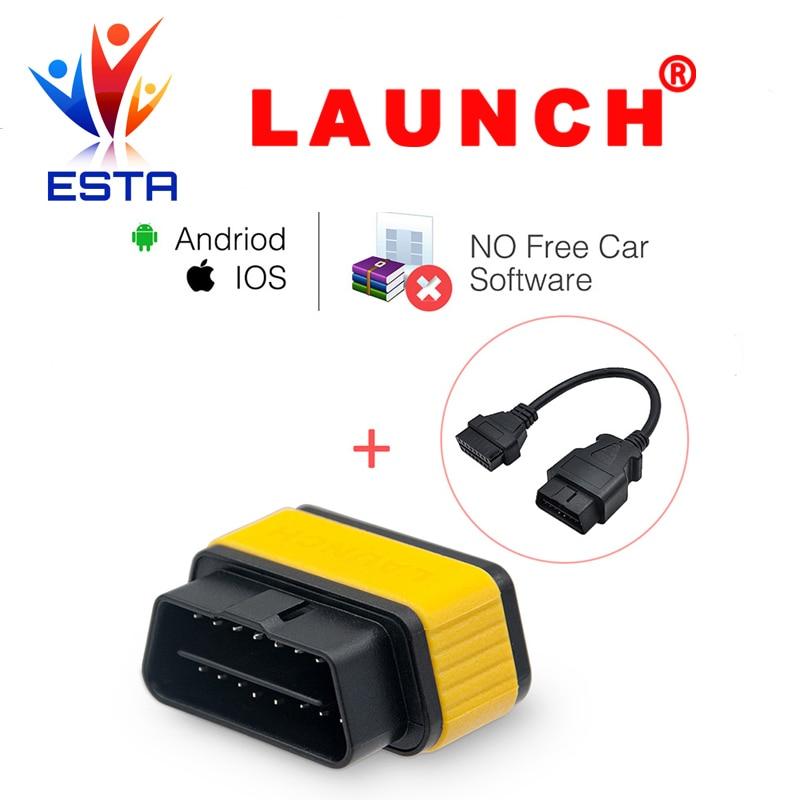 Цена за Оригинал старта X431 EasyDiag 2.0 Авто инструменту диагностики для iOS и Android система OBDII OBD2 код читателя + OBD 16pin расширение кабель