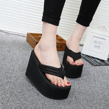 Platform Flip Flops 2016 Summer High Heeled Sandals Thick High Heeled Shoes font b Women b