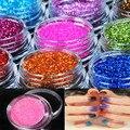 Hot Nail Glitter Powder 18 Color de La Mezcla 1 Unidades Nail Art herramienta Kit de Acrílico del Polvo del Polvo Joya De Uñas Herramientas Del Clavo Inclina La Decoración NA197
