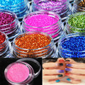Hot Nail Glitter Powder 18 Mix Color 1 Set Nail Art Tool Kit Acrylic Powder Dust  Tips Decoration Gem Polish Nail Tools NA197