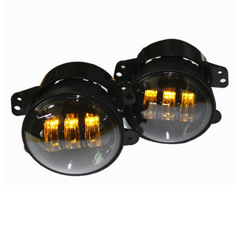 4 Inch Fog Light Led Fog Lamp Fog Lights Kit for Off Road Jeep Tractor Boat Yellow Light