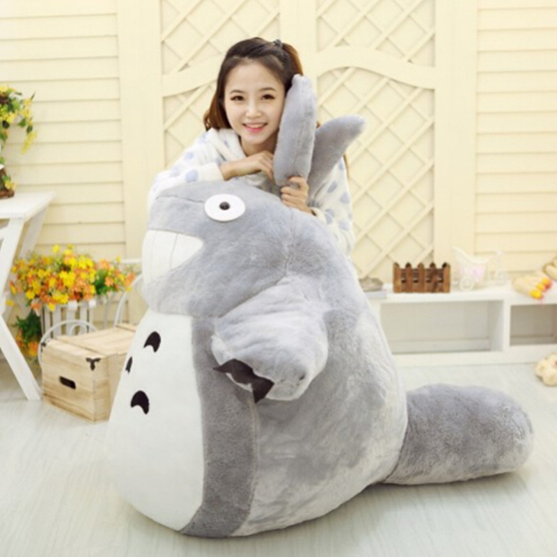 1pcs 55CM Famous Cartoon Totoro Plush Toys Smiling Soft Stuffed Toys High Quality Dolls Factory Price home decoration gift hot sale 60cm famous cartoon totoro plush toys smiling soft stuffed toys high quality dolls factory price in stock
