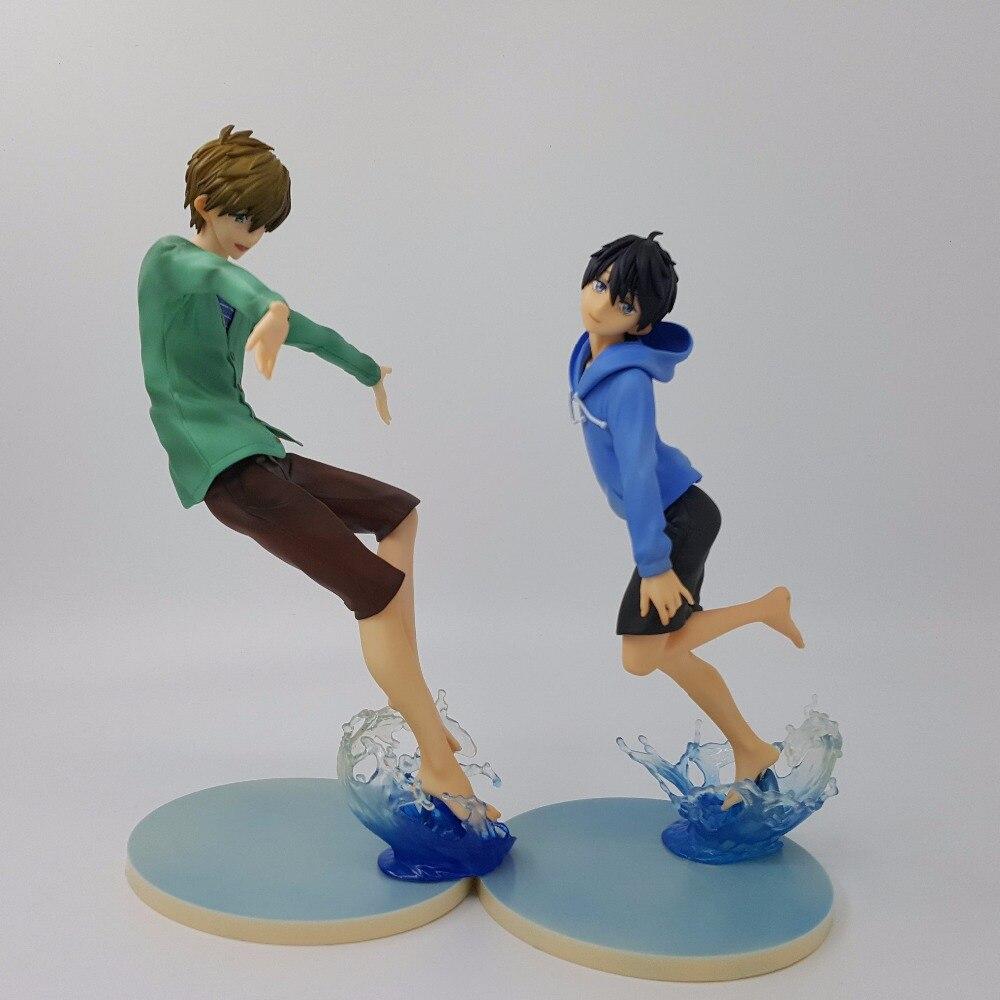 Бесплатная! Харука Татибана Макото Рин Рей Hazuki Нагиса 18 см ПВХ фигурку аниме куклы Игрушечные лошадки подарок