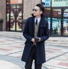 Clothing casaco fashion wool coat men grey single breasted coat outerwear trench coats sobretudo manteau homme plus size S – 9XL