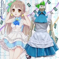 Anime LoveLive! Minami Kotori maid dress costume Love live Cosplay Alice Lolita cameriera vestito Da Sposa