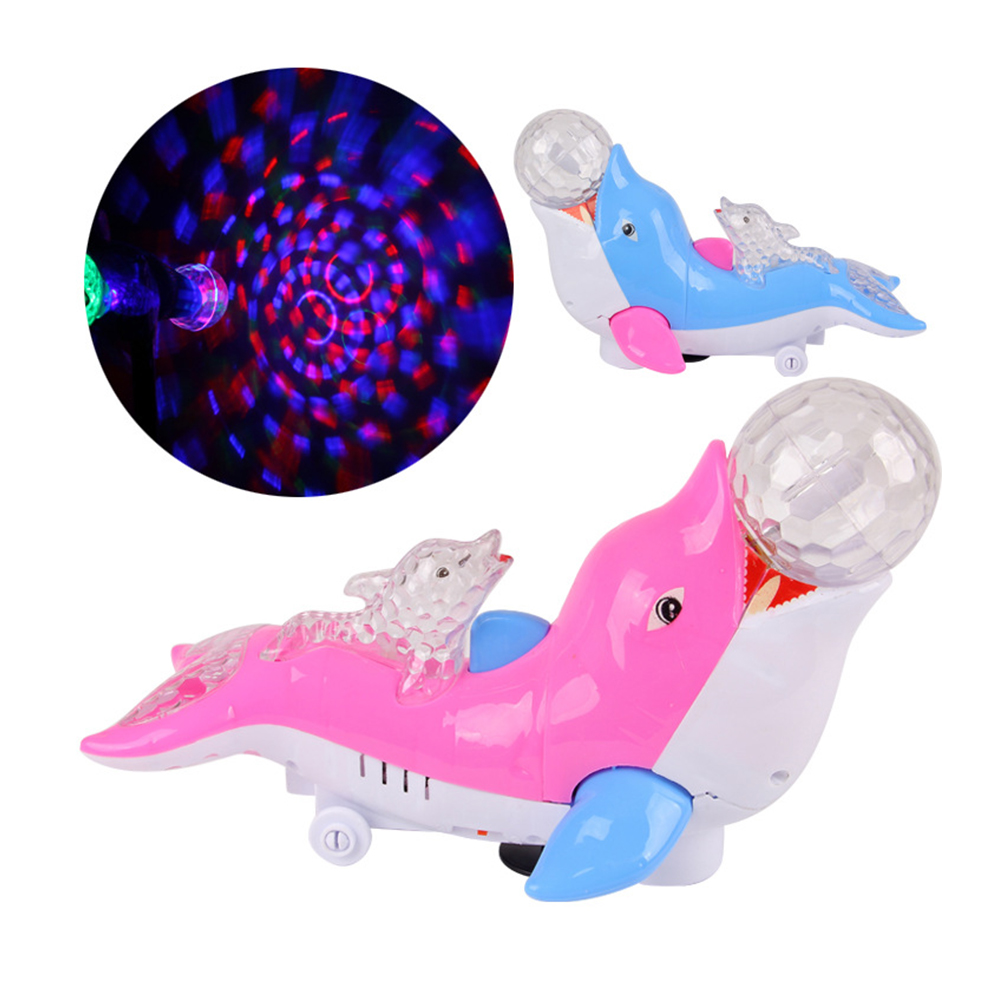 LED Colorful Party night light Rotating Laser Stage lighting Projector Lamp Cute Dolphin ...