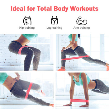 0.00$ Free To Try Pilates Rubber Bands Fitness Gum X-light to X-heavy 5