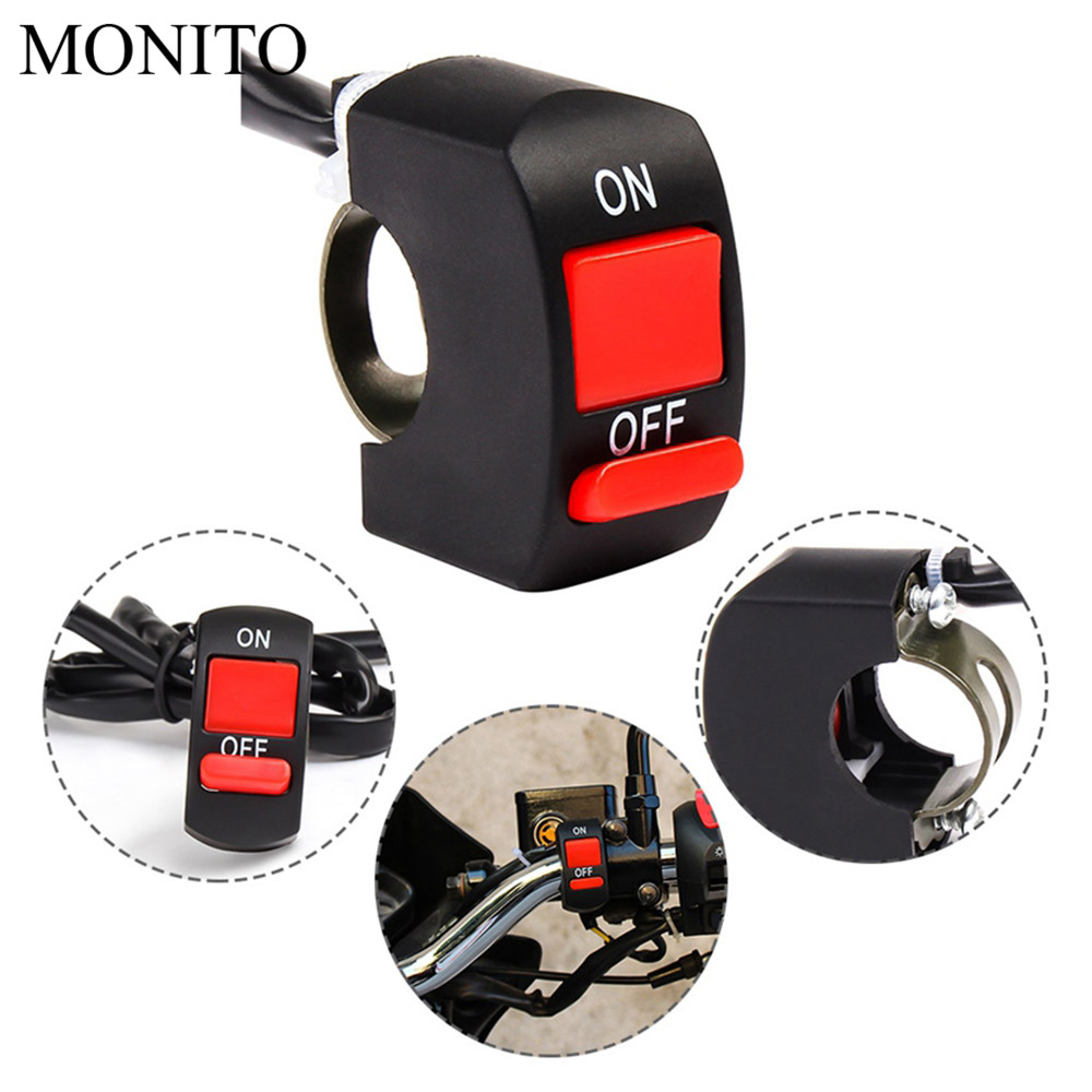 Motorcycle Button Connector Switch Light LED Switch Connector Push For YAMAHA WR 250X 250R 450F TTR 125 250 600 TTR250