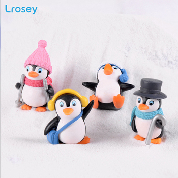 feng shui Penguin doll micro landscape fairy garden decoration hogar home decor Resin Cartoon animal Figurines miniature garden 1