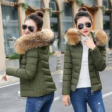 New Winter Jacket Women 2018 Long Outwear for down jacket Female Warm Coat Fake Silver Fox Fur Parkas