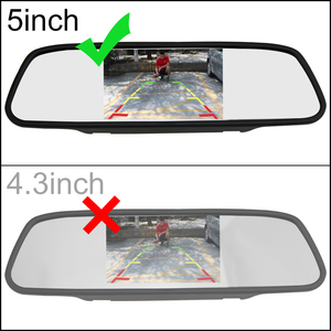 """Image 3 - 2020 5"""" Digital Color TFT 800*480 LCD Car Parking Mirror Monitor 2 Video Input For Rear view Camera Parking Assistance System"""