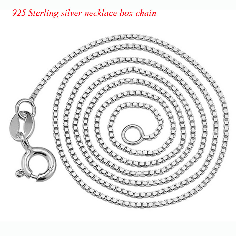 s925 sterling silver box chain neclace (8)